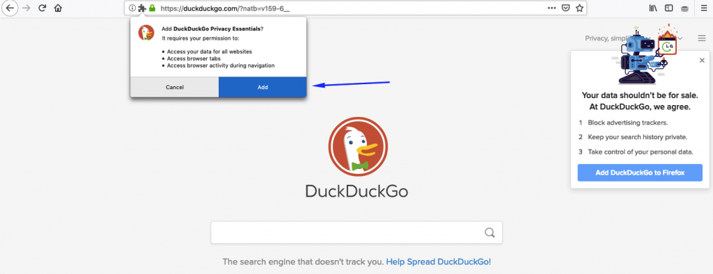 how to use DuckDuckGo