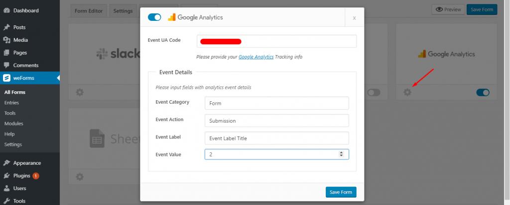 weForms Google Services Integration