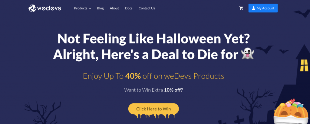 weDevs halloween offer