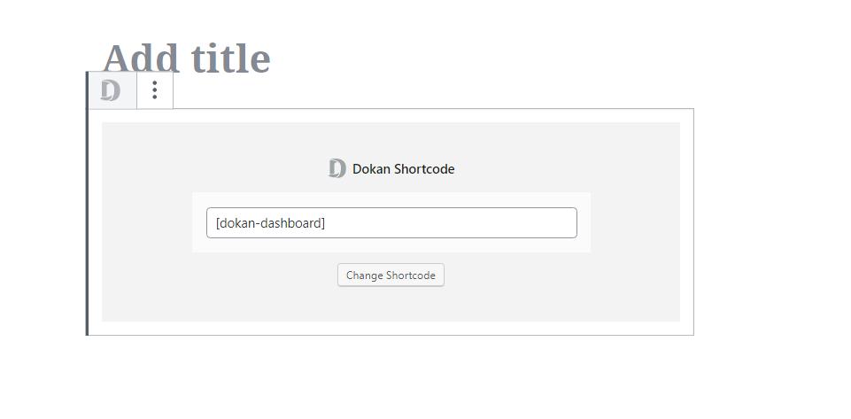 Dokan shotcode