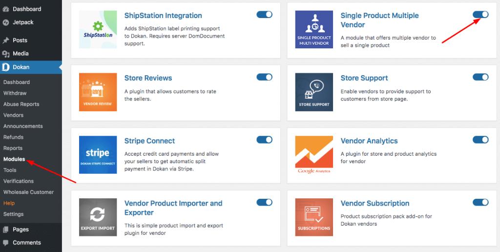 Single Product Multiple Vendor