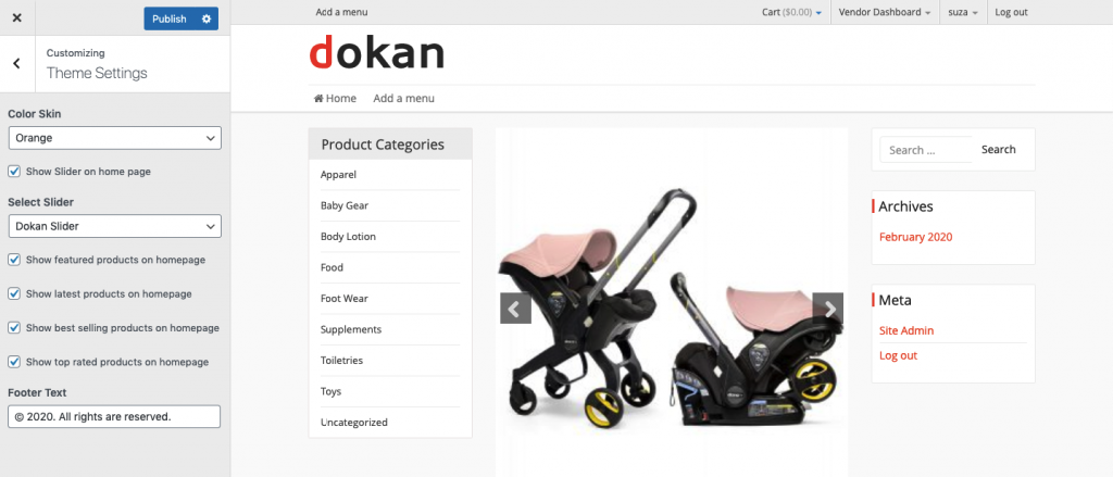 create a childcare website