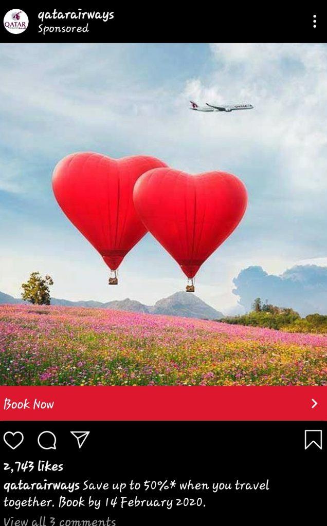Instagram flight ads WCT