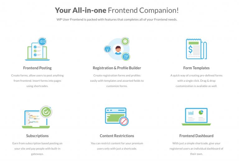 WordPress frontend post