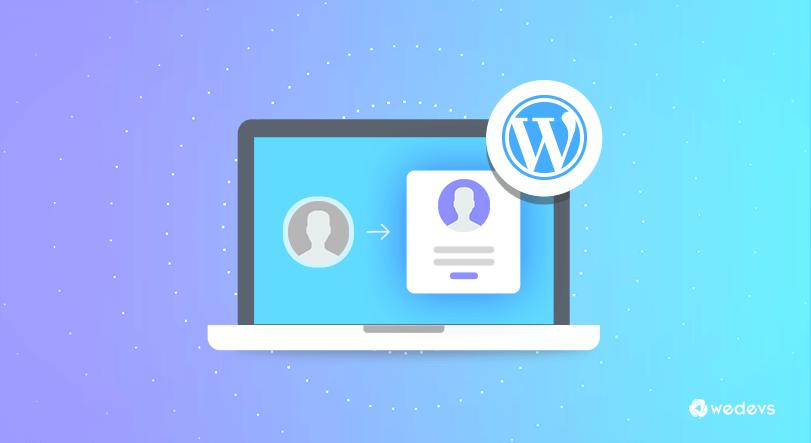 WordPress frontend post: registration