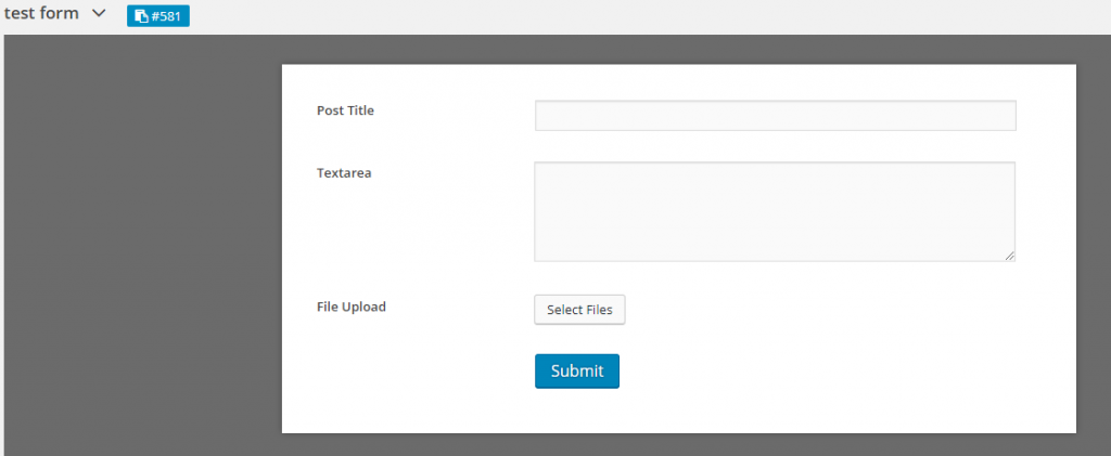 create form in wordpress with WPUF