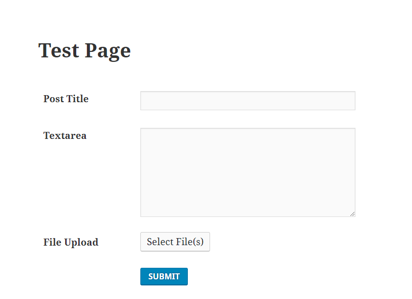 test page view