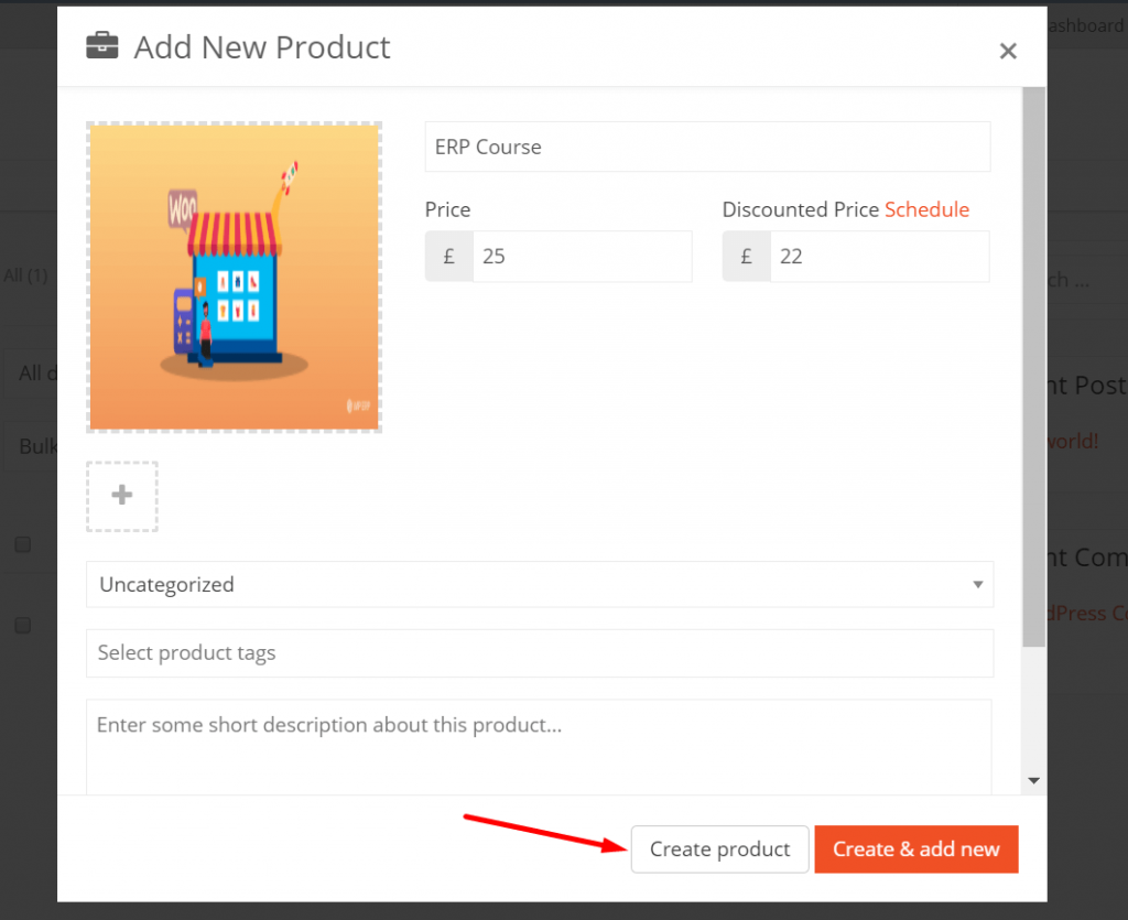 Create Product vendor subscription product
