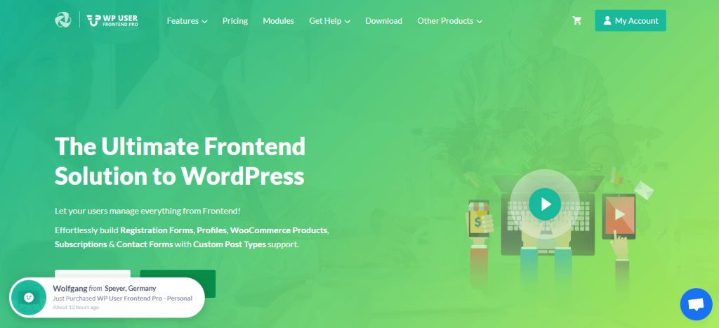 wordpress frontend file upload