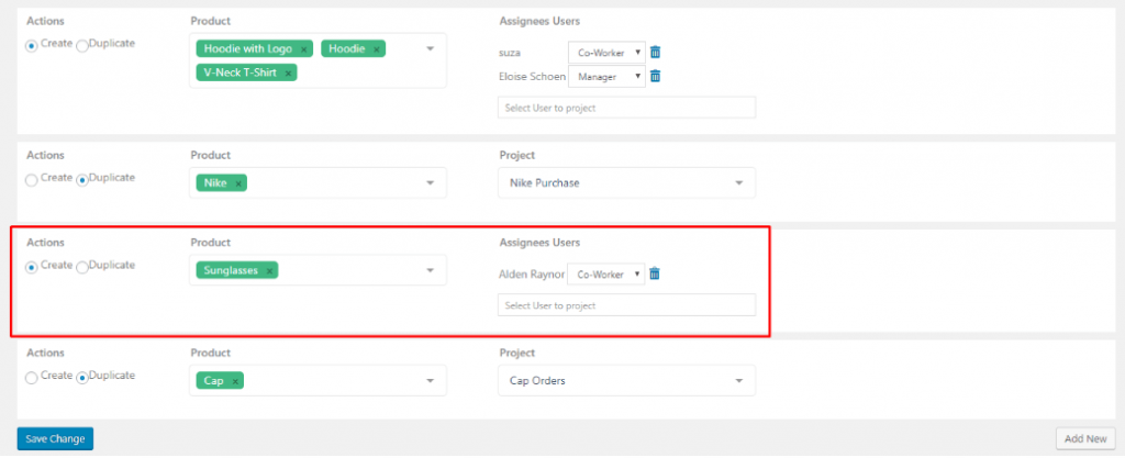 Create button, woocommerce order module
