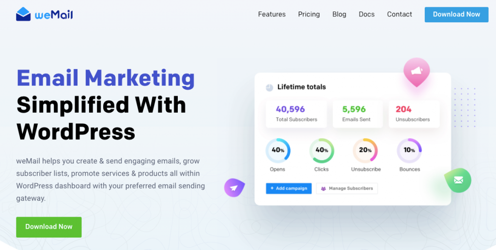 weMail- email marketing tool for wordpress