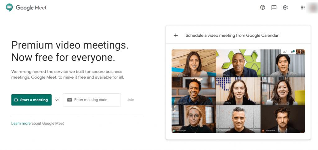 Google meet online meeting tool