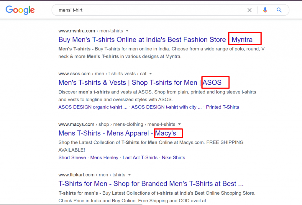 title tags eCommerce SEO tips