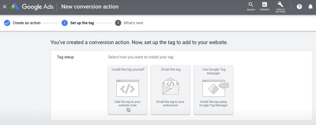 Google ad adding tag