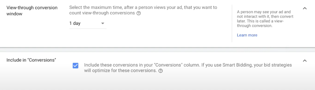 View Through conversion Google ads