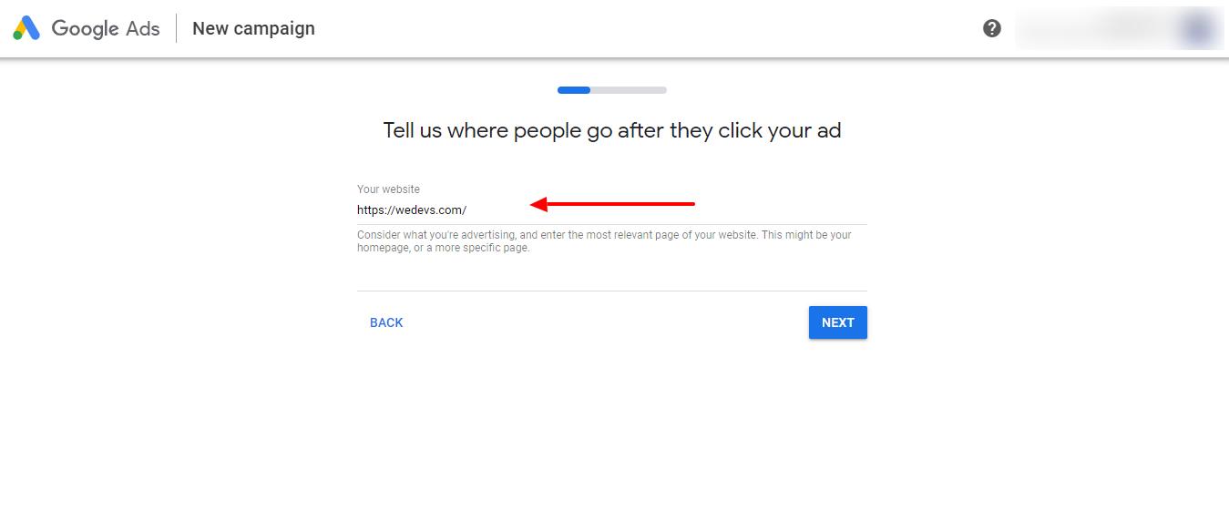 set your website url