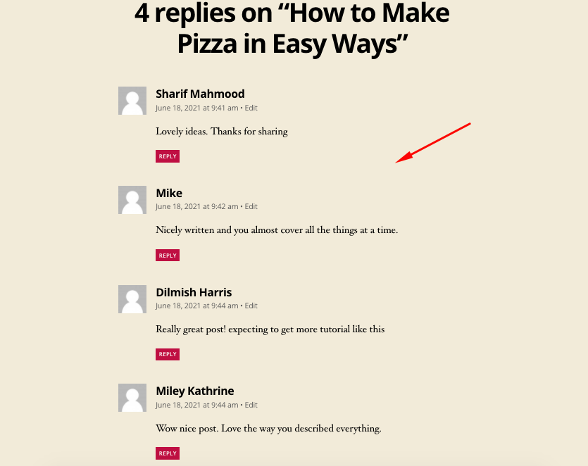 How to add comments