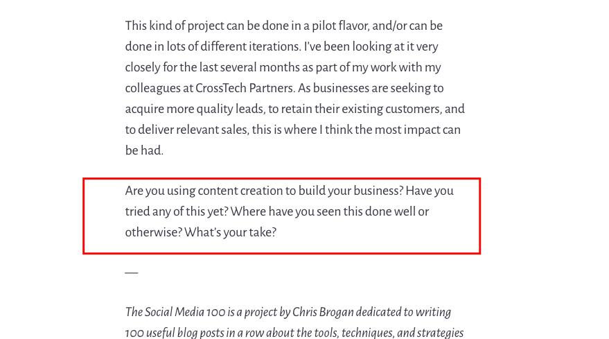 blog comment questions