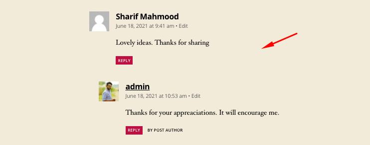 Comment Management Answer