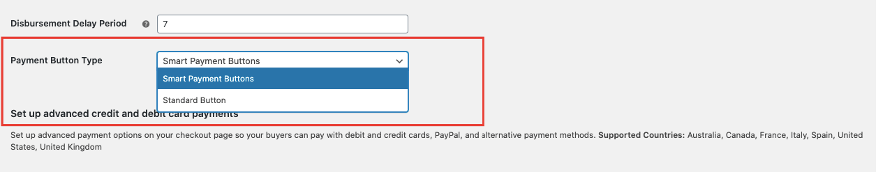 payment button type