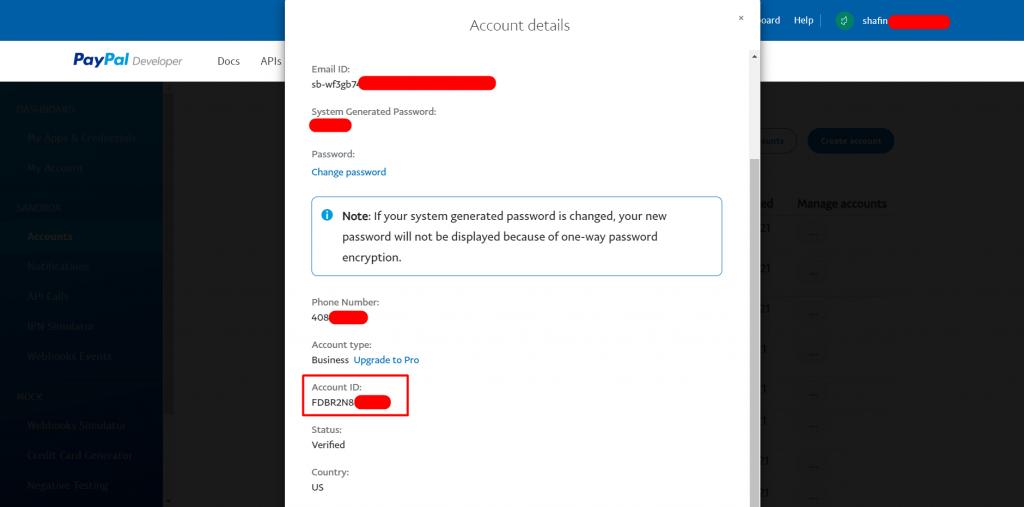 Copy Account ID
