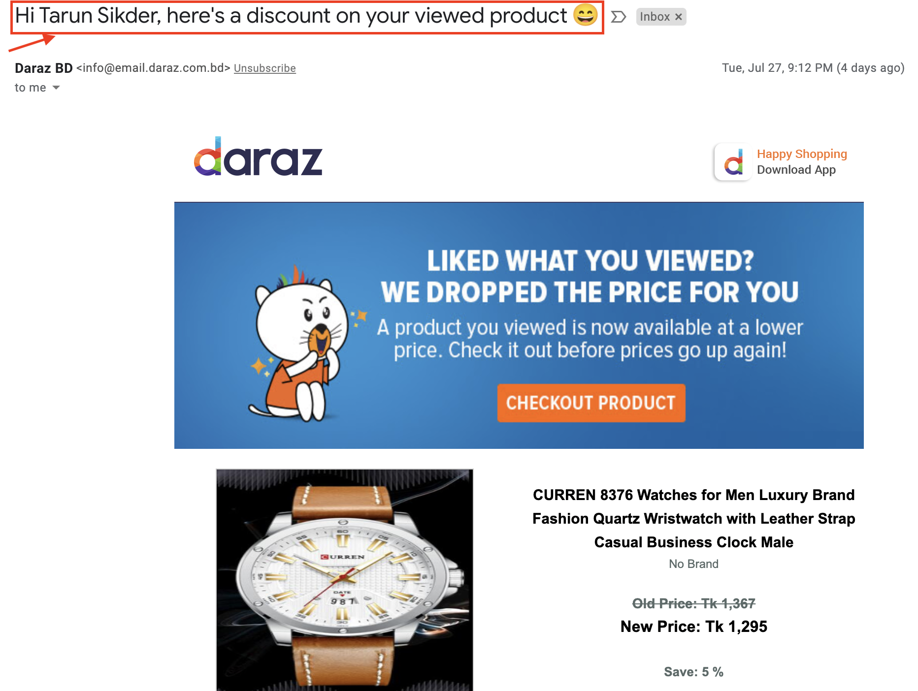 ecommerce personalized email