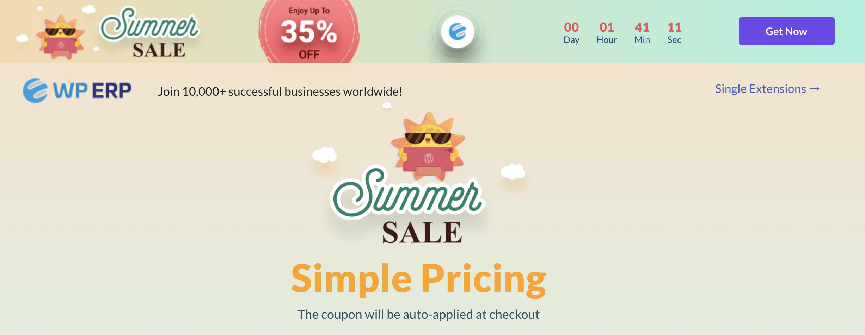 WP ERP Summer Sale