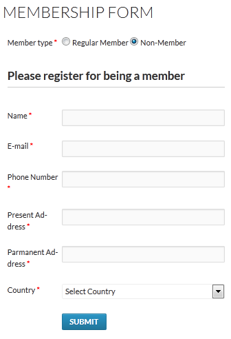 Form for non-member