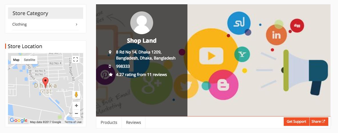 Vendor Social Button