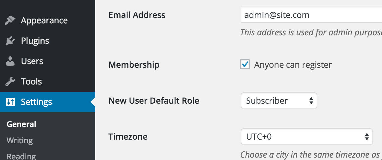 WordPress - Enable Membership