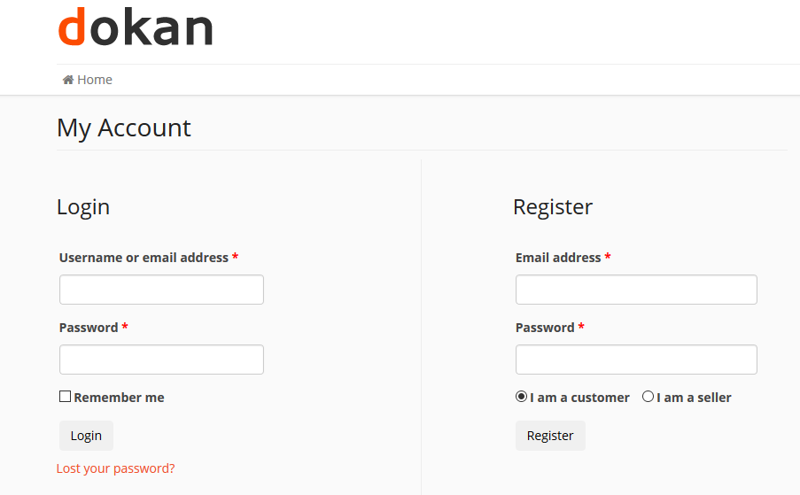 dokan-my-account-setting