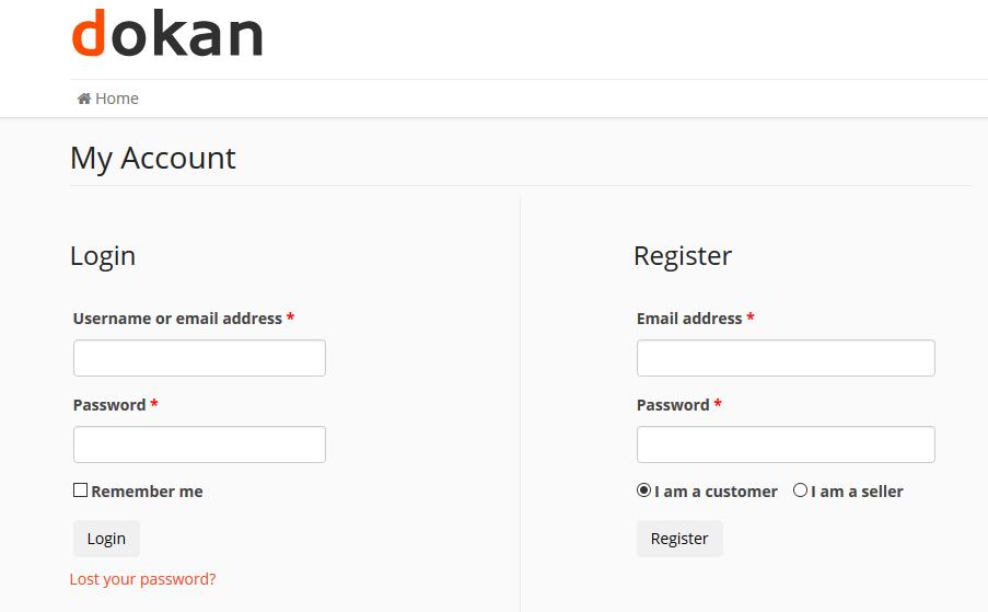 dokan-my-account-setting