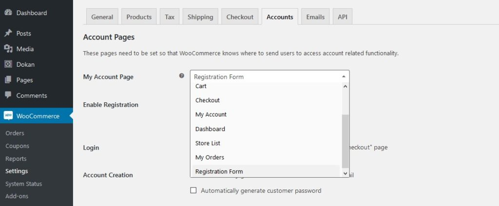 dokan-registration-form-woocommerce-link