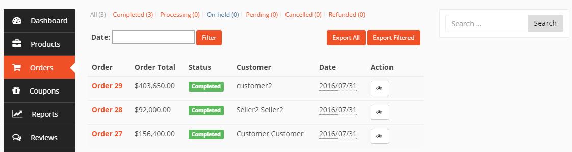 dokan vendor order list