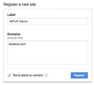 wpuf - reCAPTCHA creating form